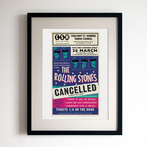 Rolling Stones Concert Poster Print