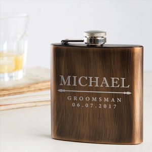 Personalised Groomsmen Gift Hip Flask - hip flasks