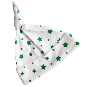 Baby Hat Green Christmas Star
