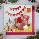 Robin And Mouse Christmas Card