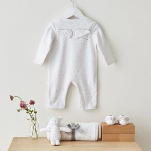 Silver Stars Angel Wings Luxury Baby Gift Set - gifts for babies & children