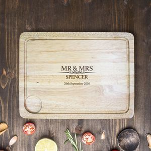 Personalised Mr And Mrs Carving Board - what's new