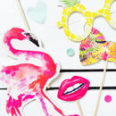 Tropical Party Flamingo Photo Booth Props