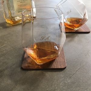 Engraved Tilting Glasses Set