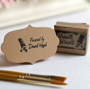 Personalised 'Painted By' Rubber Stamp - stamps & inkpads