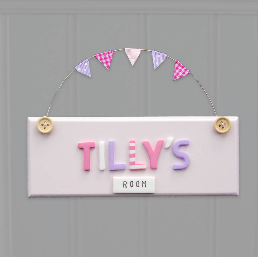 Personalised Vintage Style Door Sign By Littlebumpkins