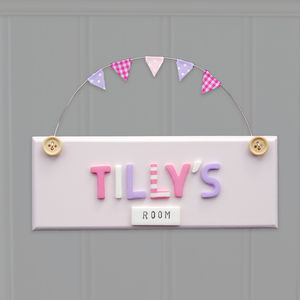 Personalised Vintage Style Door Sign - gifts for children