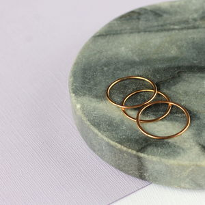 Skinny Stacking Ring Set Rose Gold Fill - rings