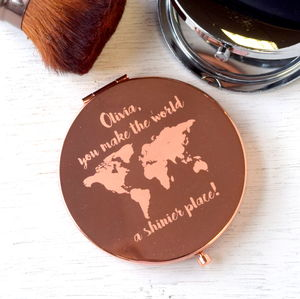 You Make The World A Shinier Place Compact Mirror - new in health & beauty