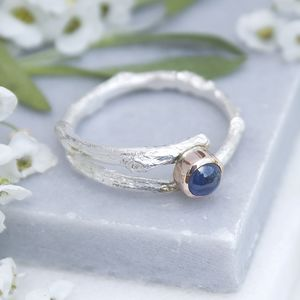 Sapphire Woodland Twig Ring Sapphire Engagement Ring - birthstone jewellery gifts