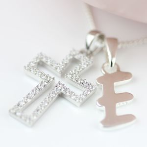 Personalised Children's Christening Cross Pendant - necklaces & pendants