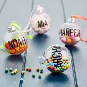 Personalised Fill Me Up Bauble - christmas eve box ideas