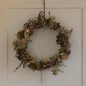 Wreath Of Dried Flowers And Berries