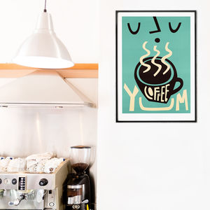 Retro Coffee Print - food & drink prints