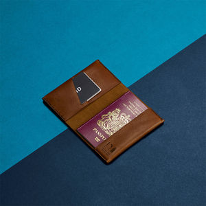 Personalised Leather Passport Holder - gifts for fathers