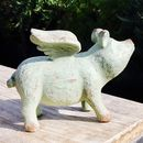 Flying Pig Garden Sculpture