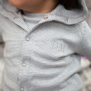 Monogrammed Baby Striped Organic Jacket
