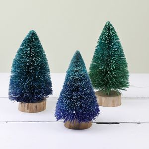 Set Of Three Ombre Bristle Tree Decorations - winter sale