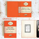 Classic Orange Book Case for Kindle and Tablet