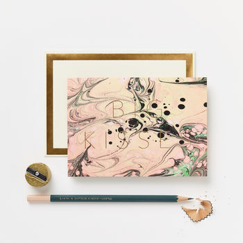 Marble Big Kisses Card