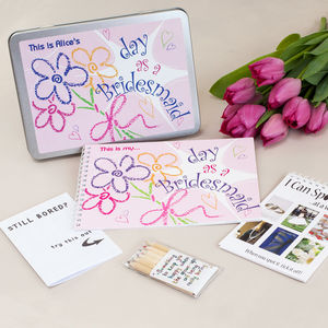 Personalised Bridesmaid Wedding Activity Pack