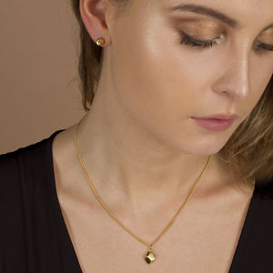 Faceted Silver And Gold Charm Necklace