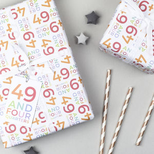 50th Birthday Wrapping Paper Set - shop by category