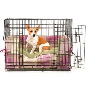 Tweed Dog Crate Bumper, Crate Cushion And Crate Set - dog beds & houses