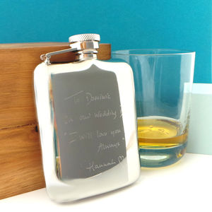 Personalised Engraved Premium Hip Flask Free Engraving - hip flasks