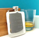 Personalised Engraved Premium Hip Flask Free Engraving