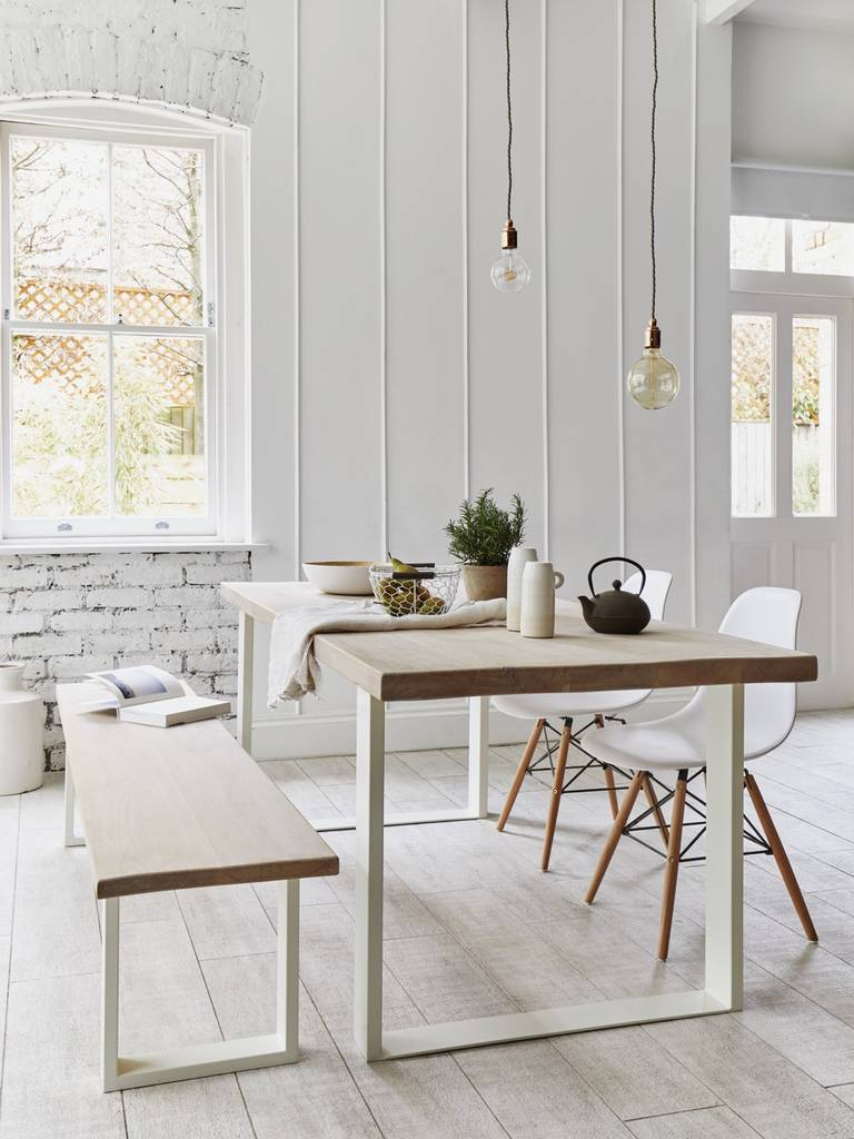 oak dining table with white square frame by rust collections ...