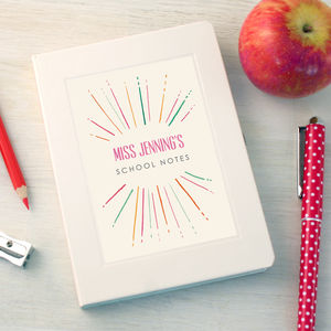 Personalised Pattern Thank You Teacher Notebook - last-minute gifts for teachers