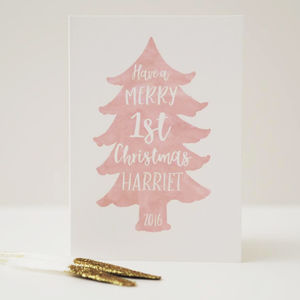 Baby's Personalised First Christmas Card