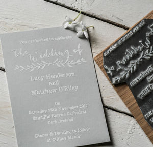 Invitation Stamp With Natural Sprig