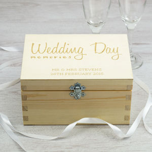 Personalised Wedding Day Memories Keepsake Box - storage & organisers