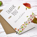 Personalised Autumn Leaves Thank You Card