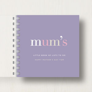 Personalised 'Mum's' Small Notebook - planners & record books