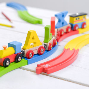 Bright Wooden Train Track - toys & games