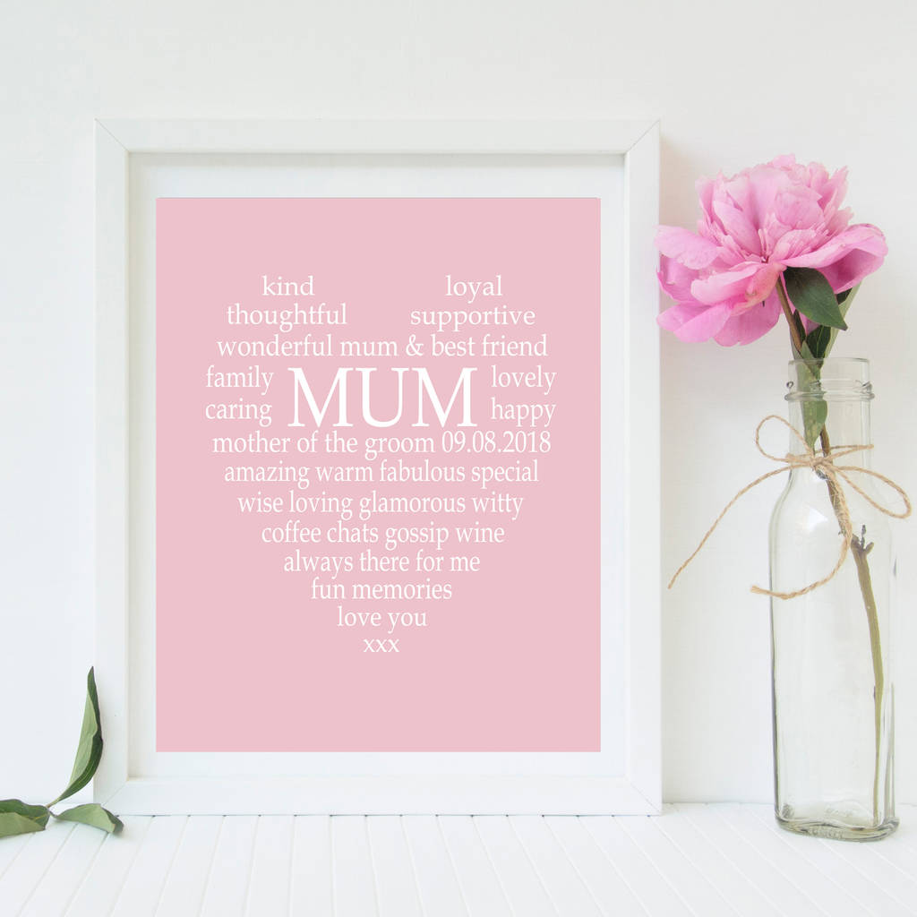 mother of the bride/groom personalised print by tillybob and me ...