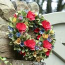 Spring Meadow Wooden Floral Door Wreath