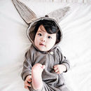 Bunny Hooded Jumpsuit Grey - Look