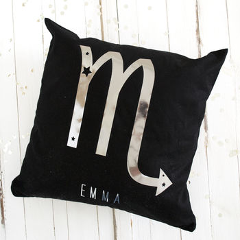 Personalised Metallic Starsign Cushion