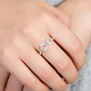 Silver Infinity Adjustable Ring - rings