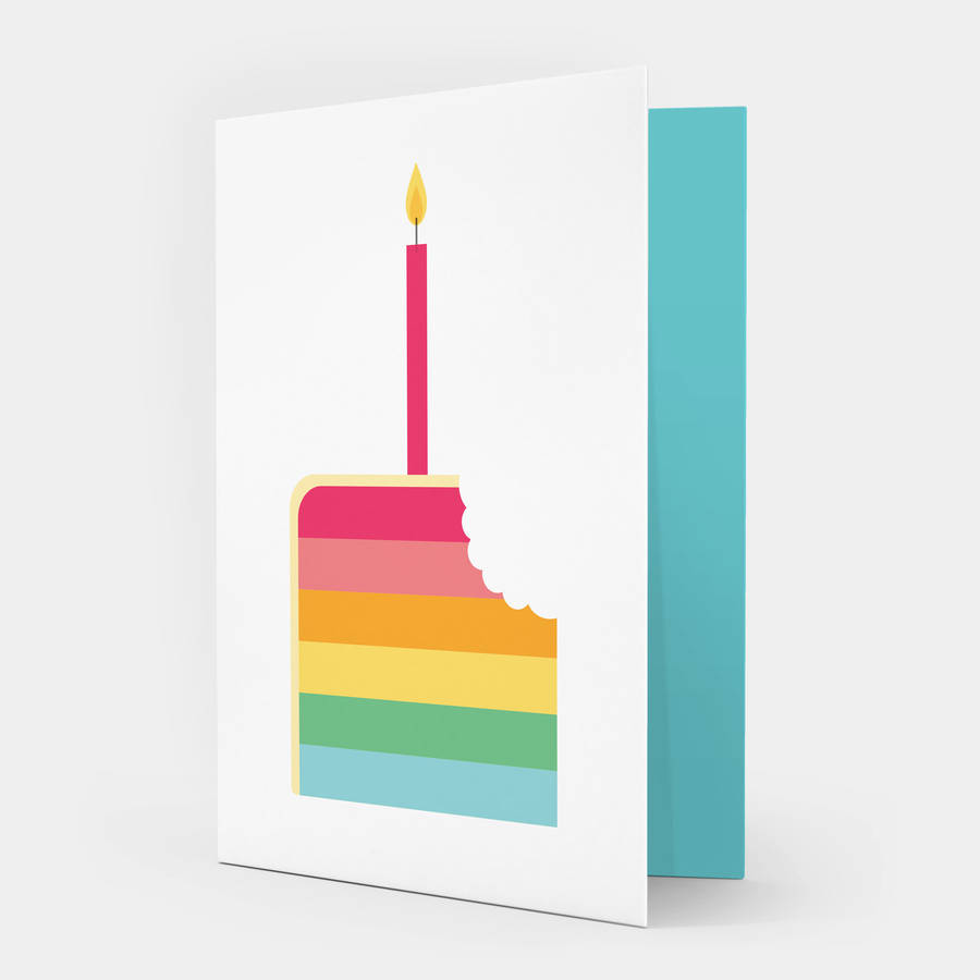 Rainbow Cake Birthday Card By Showler And Showler