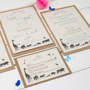 Animal Wedding Invitation Set - wedding stationery