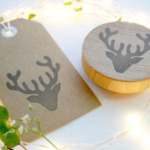 Stag Hand Carved Rubber Stamp
