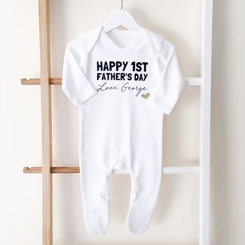 Personalised First Father's Day Sleepsuit