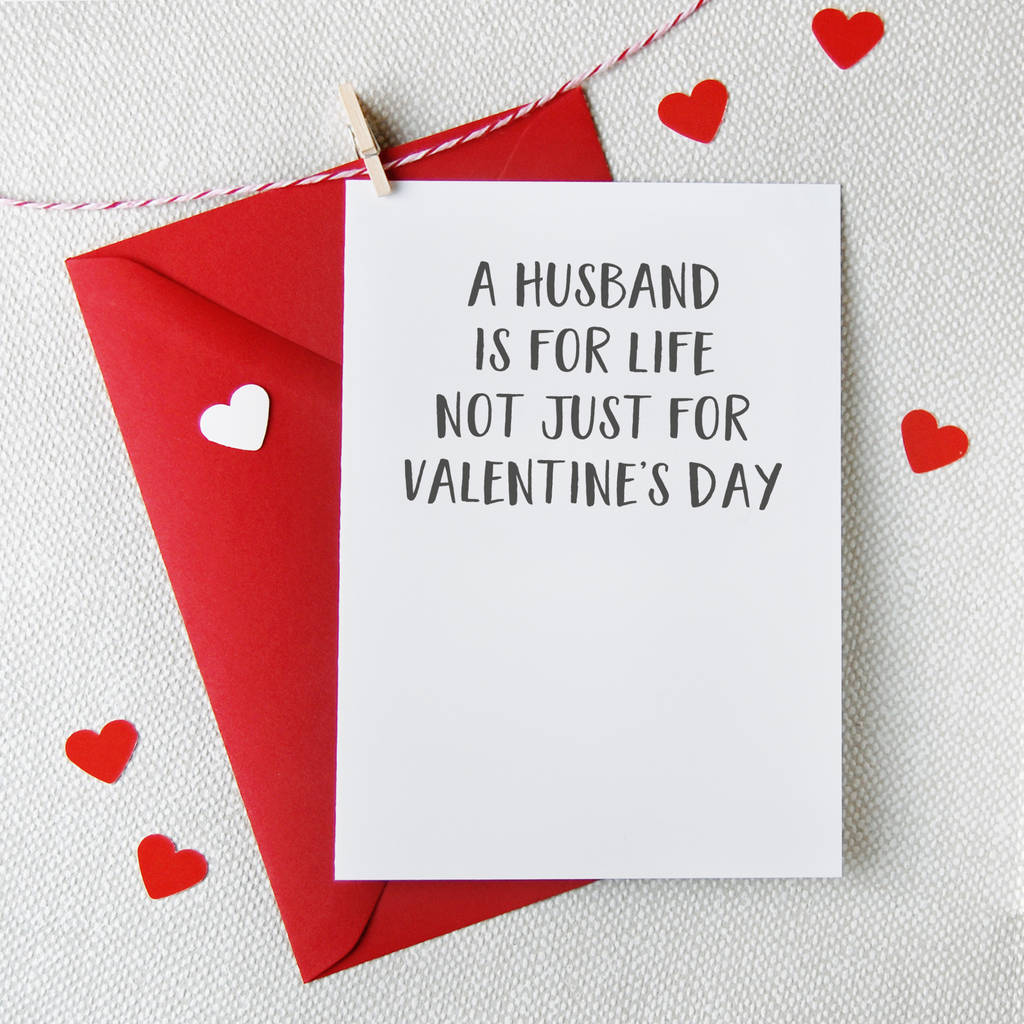 a husband is for life valentine