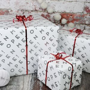 Open Me Gift Wrap Wrapping Paper Set