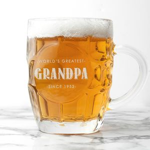 Grandads Personalised Dimple Pint Glass - drink & barware